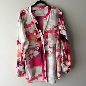 Calvin Klein Tops - Calvin Klein Pink Double Breasted Tunic Top